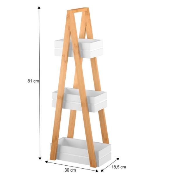 Raft, bambus/alb, VEGO