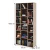 Dulap biblioraft înalt, PAL melaminat, stejar sonoma, DUNAJ TYP13
