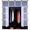 Dulap garderobă, plastic, negru, RODAN TYP 2