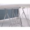 Masă de bucătărie, crom/MDF, strălucire extra albă HG, RONDY