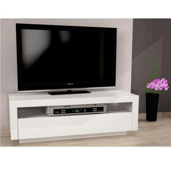 Comodă TV, alb, AGNES