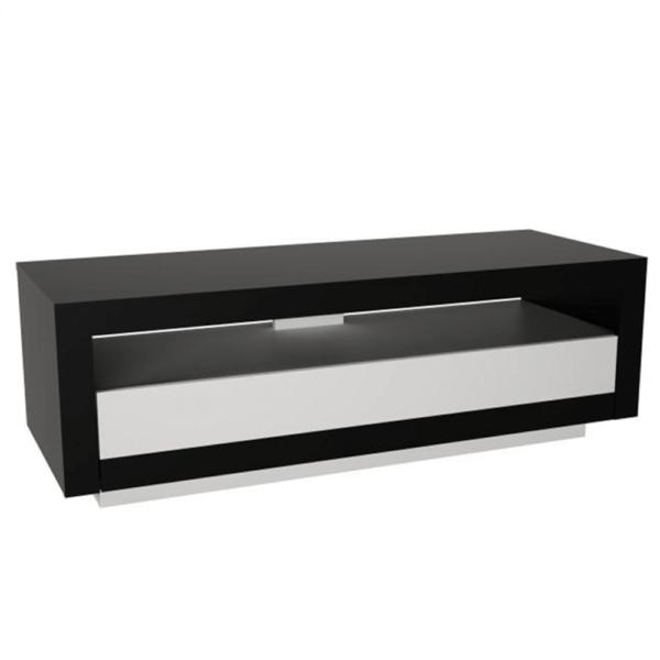 Comodă TV, negru/alb, AGNES