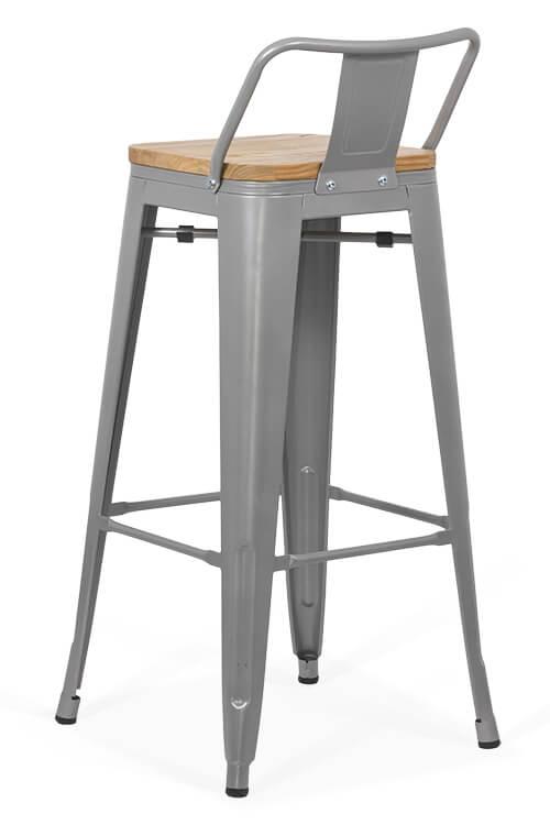 Scaun bar metalic cu spatar ABS124H