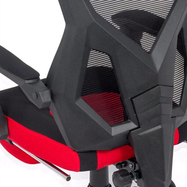 Scaun gaming rosu/negru cu suport de picioare OFF 304