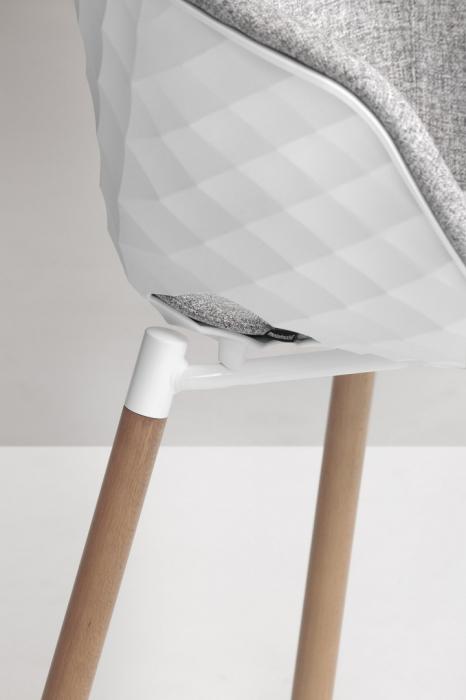 Scaune moderne scoica tapitata picioare lemn UNI-KA601M