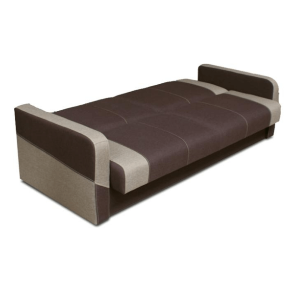 Set de canapele 3+1+1, ciocolatiu/maro deschis, HUGOR