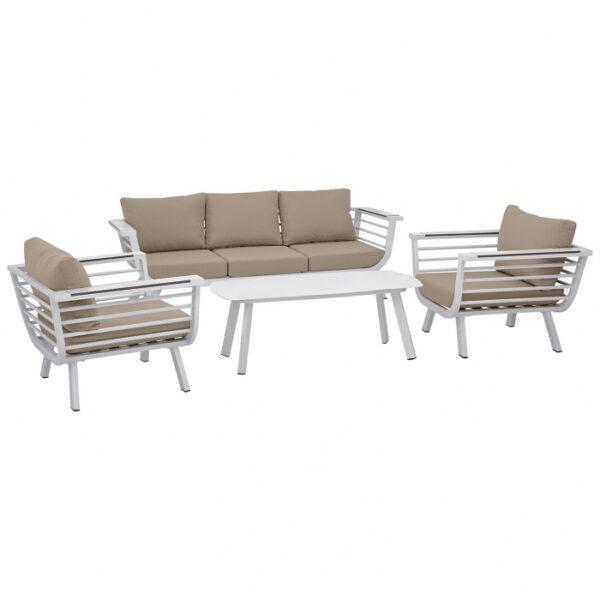 Set terasa outdoor canapea fotolii si masa structura aluminiu SET1632