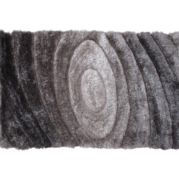 Covor 80x150 cm, gri, cu model, VANJA