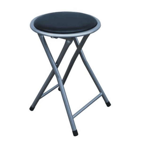 Taburet pliabil/scaun, negru, IRMA