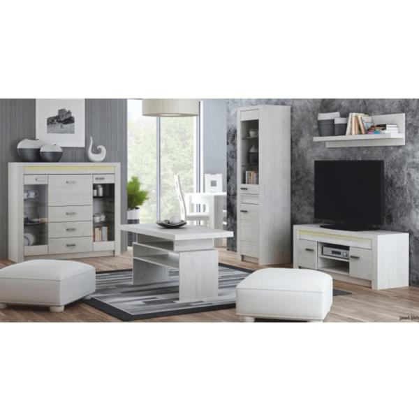 Comodă TV, frasin alb, INFINITY I-09