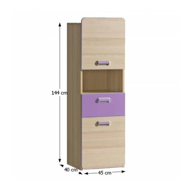 Dulap, frasin/violet, EGO L4