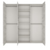 Dulap TIP 22 3D cu 3 uşi, alb craft, ANGEL