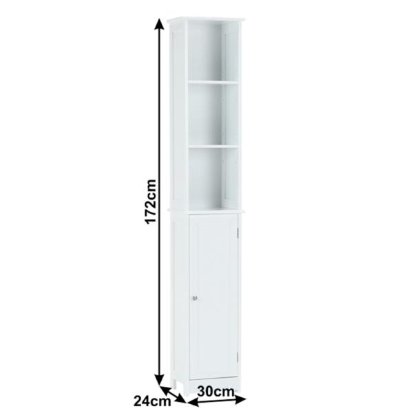 Dulap înalt, alb, ATENE TIPUL 1