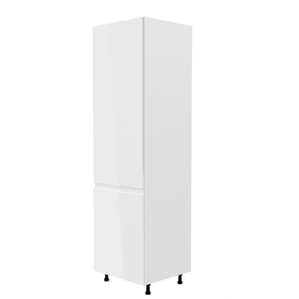 Dulap pt. frigider, alb/alb extra luciu ridicat, de stânga, AURORA D60ZL
