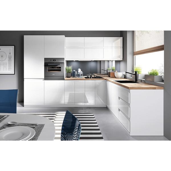 Dulap pt. frigider, alb/alb extra luciu ridicat, de dreapta, AURORA D60ZL