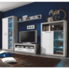 Dulap sufragerie, Beton/alb cu luciu, SLONE