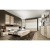 Dormitor, dulap+pat+2buc noptiere, stejar nisip/alb, VALERIA