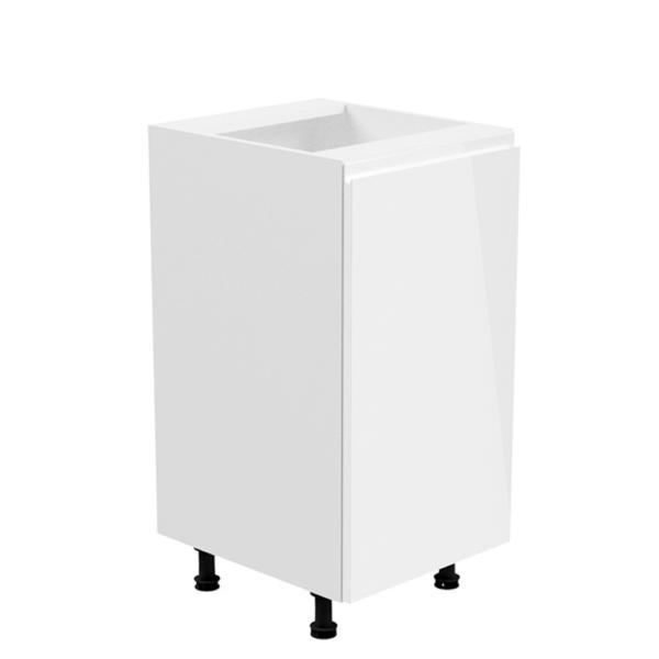 Dulap inferior, alb/alb extra luciu ridicat, de dreapta, AURORA D41