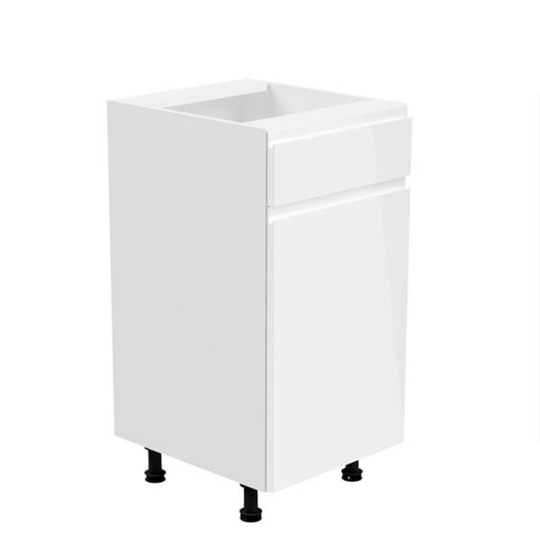 Dulap inferior, alb/alb extra luciu ridicat, de dreapta, AURORA D40S2
