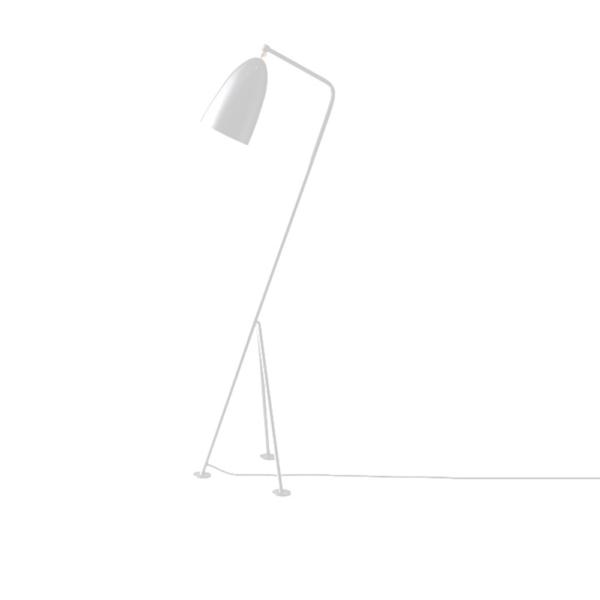 Lampă pe picior, metal alb, CINDA TYP 24 YF6250-W
