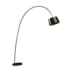 Lampă semicerc, negru/marmură, CINDA TYP 18 F1090