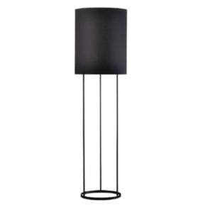 Lampă pe picior, metal/material, negru, CINDA TYP 22 F7008