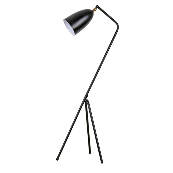 Lampă pe picior, metal negru, CINDA TYP 23 YF6250-B