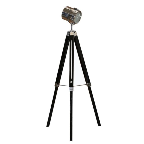 Lampă de podea, lemn negru/metal, CINDA TYP 26 YF819-B