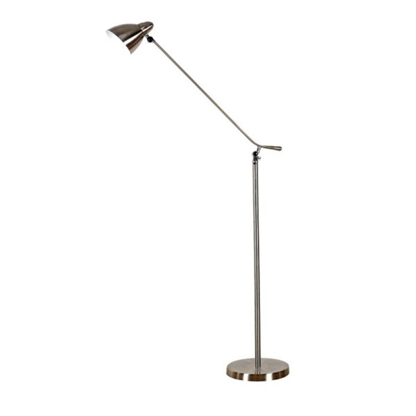 Lampă pe picior, fier/nichel, CINDA TYP 8 F1078