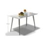 Masă dining 120x70, MDF+crom, extra strălucire HG, PEDRO