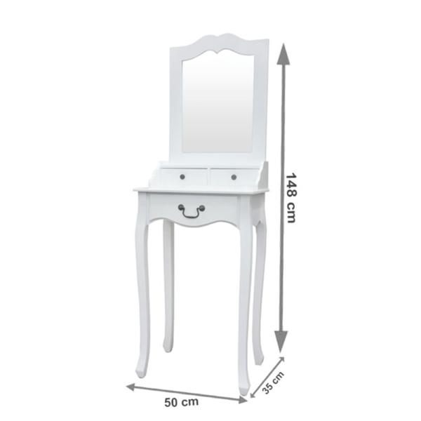 Măsuţă de toaletă, alb, GINO