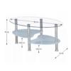 Măsuţă de cafea, oţel/sticlă transparentă/sticlă de culoarea laptelui, WAVE NEW