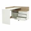Masă de birou, S/D, de colţ, stejar sonoma/alb, TALE 484881