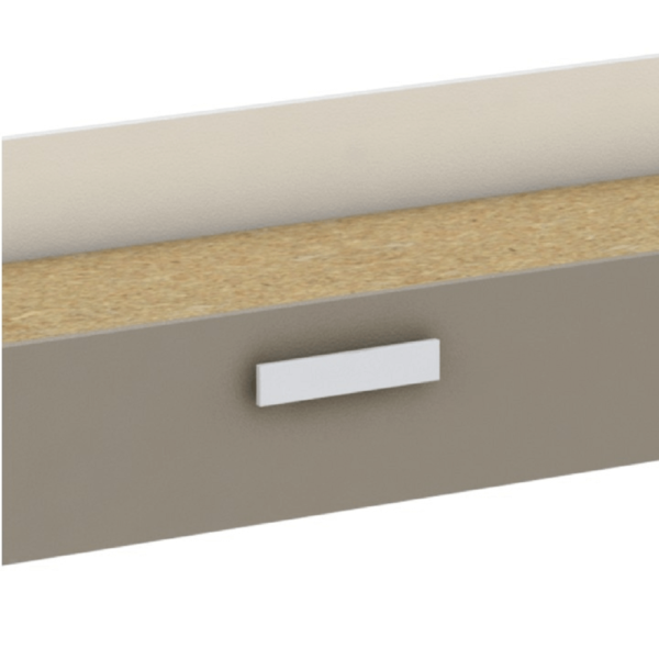Spaţiu de depozitare sub pat, alb/gri-maro taupe, TIDY