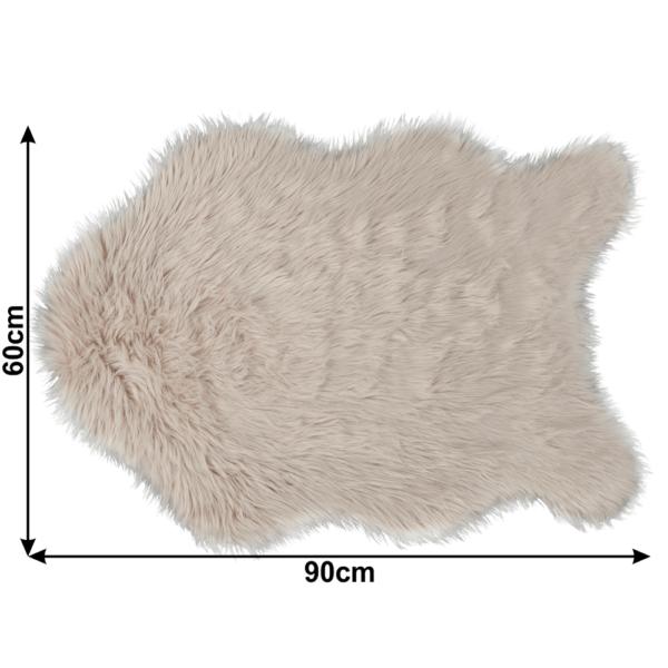Blană artificială 60x90 cm, bej, EBONY TYP 2