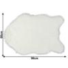 Blană artificială 60x90 cm, alb, EBONY TYP 1