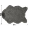 Blană artificială 60x90 cm, gri, EBONY TYP 5