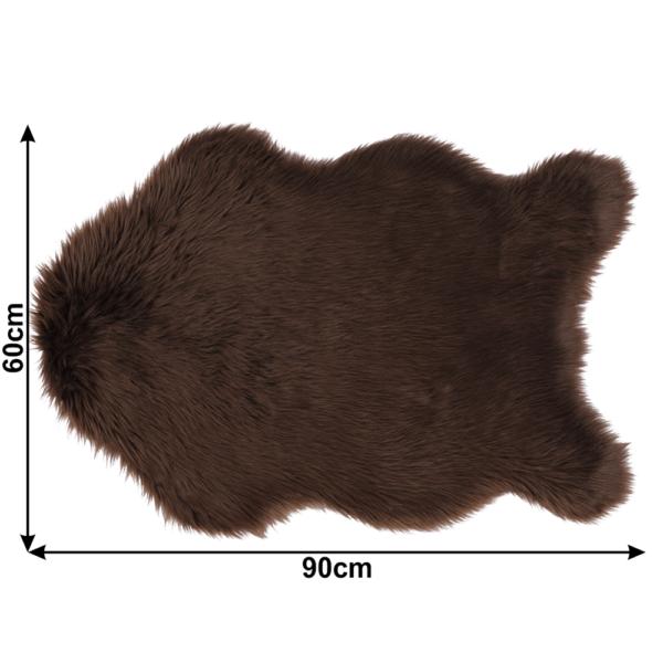 Blană artificială 60x90 cm, maro, EBONY TYP 3