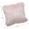 Pernă, roz, 45x45, EBONA TIPUL 7