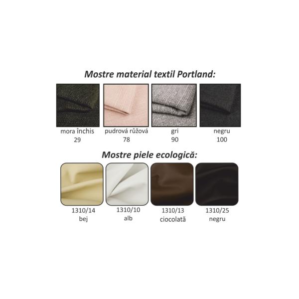 Taburet, Portland maro deschis 22/piele ecologică ciocolatie, ROSANA
