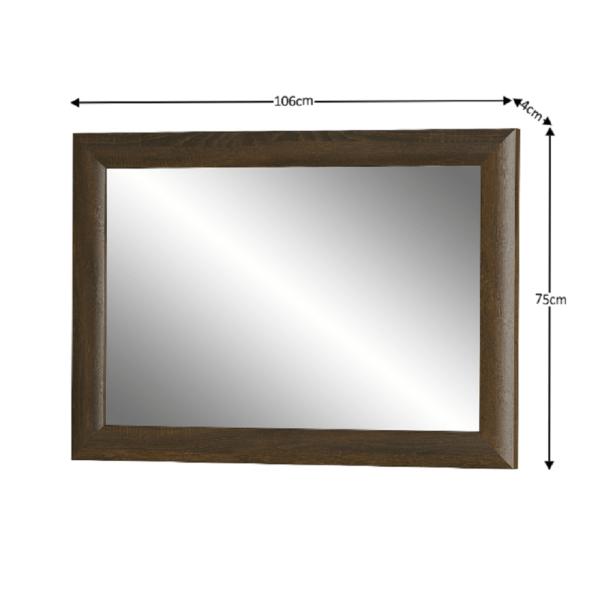 Oglindă, stejar sonoma/ciocolată, PARMY