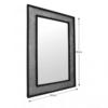 Oglindă, argint/negru, ELISON TYP 9