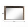 Oglindă, frasin închis, INFINITY I-12