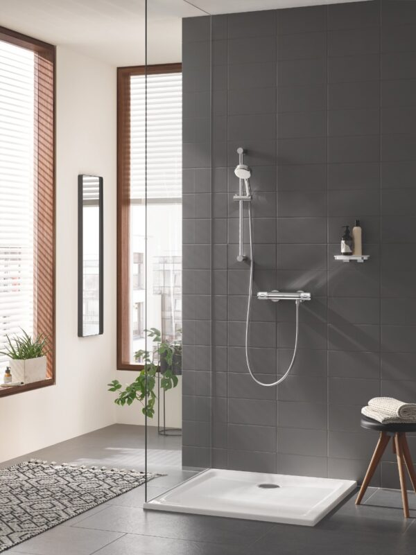 Baterie cabina dus Grohe Grohtherm 1000 Performance,termostat,crom,montare perete,set dus-(34776000,27578002)