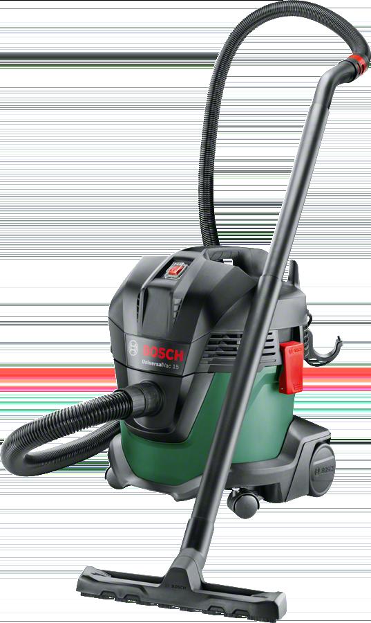 Aspirator Bosch UniversalVac 15 06033D1100, 1000 W, 15 L, Aspirare umeda-uscata, Functie de suflare, Negru/Verde