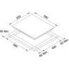 Plita incorporabila vitroceramica Franke FHR604 C T WH 108.0530.026, Electrica, 4 zone de gatit, Control touch, Indicator caldura reziduala, Latime 59 cm, Alb