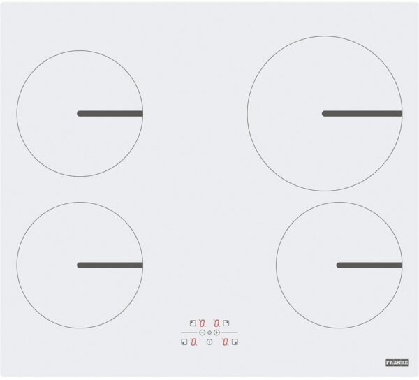 Plita incorporabila Franke Smart FHSM 604 4I WH, 4 zone inductie, 58 x 52 cm, Touch Control, Sticla alba