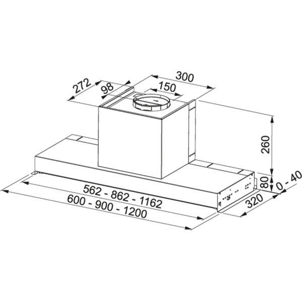 Hota incorporabila Franke Style Lux LED FSTP NG 605 X 110.0473.545, Tip caseta, Capacitate 540 m3/H (maxim, mod evacuare), 3 viteze, Comanda buton rotativ, Latime 60 cm, Inox Satinat