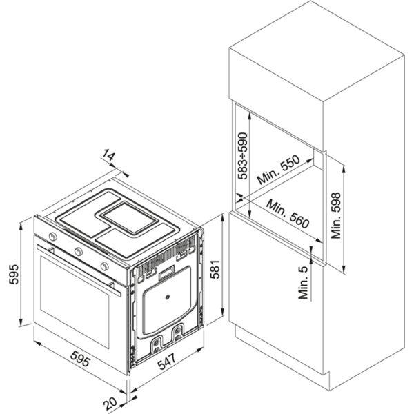 Cuptor incorporabil multifunctional Franke Maris MA 82 M 116.0541.718, Electric, 74 L, 9 functii, Control mecanic, Clasa A, Negru