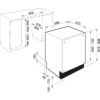 Masina de spalat vase incorporabila Franke FDW 614 D10P A+++, 117.0525.121, 14 seturi, 10 programe, Pornire intarziata, Incarcare la jumate, Protectie scurgere apa, 60 cm, Clasa A+++